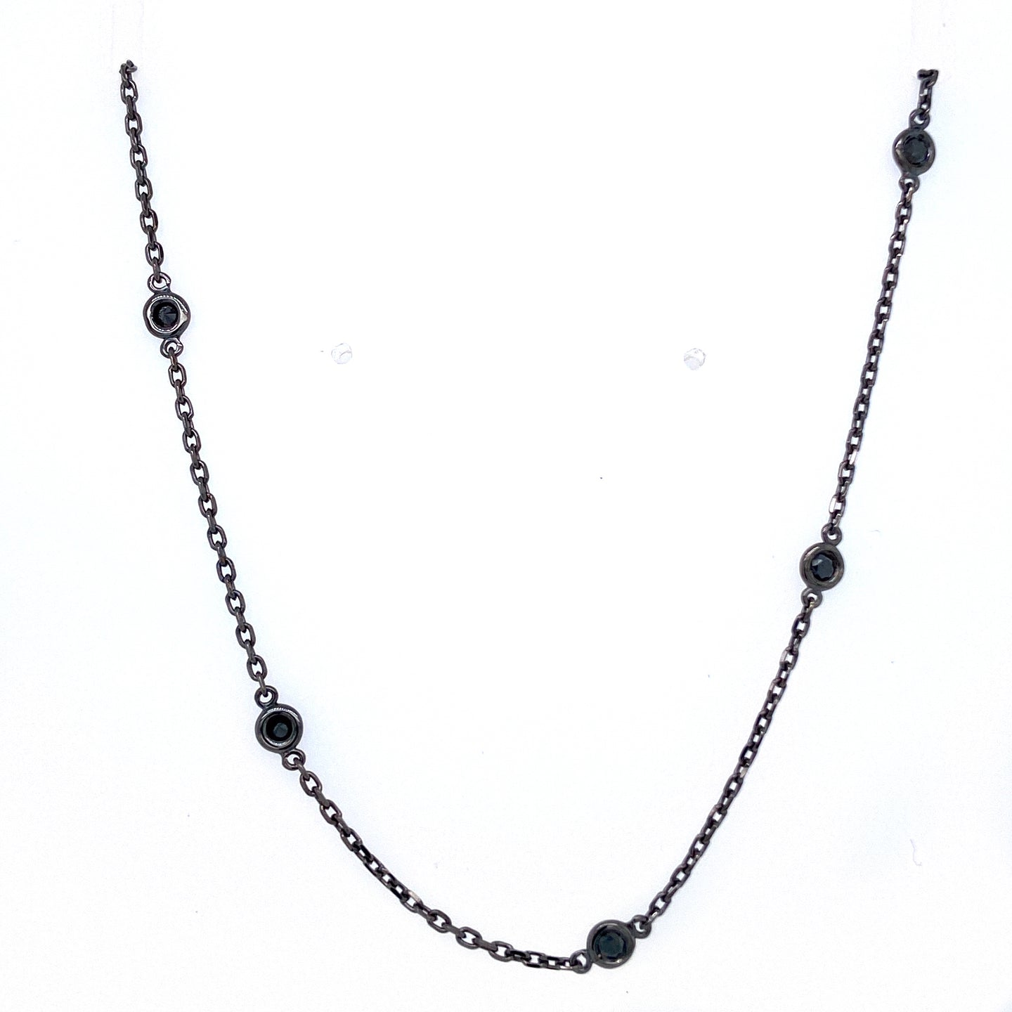 All Black Diamonds By the Yard Necklace