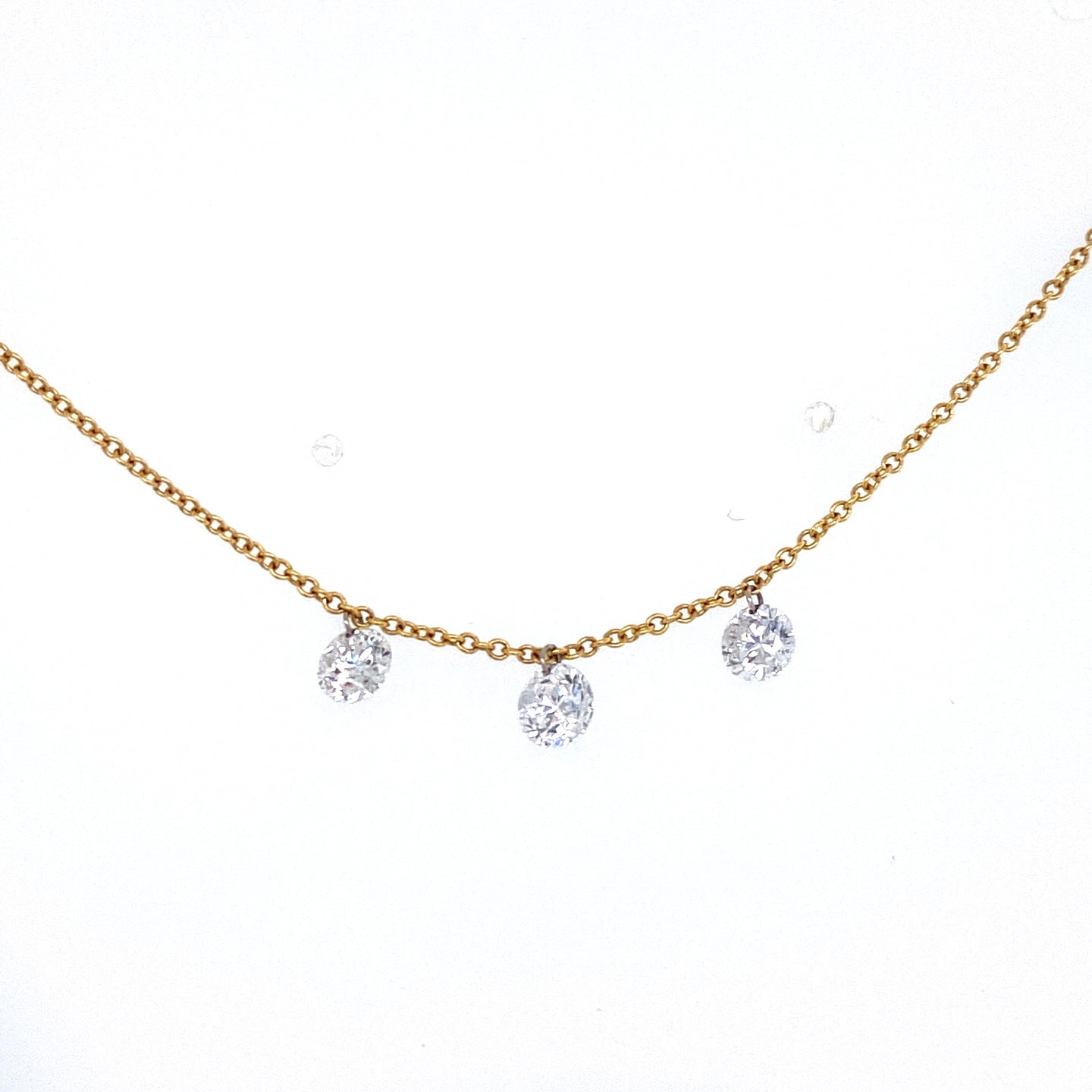 3 Dangling Diamond Necklace
