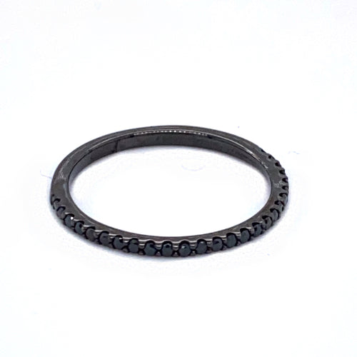 Black Rhodium Ring with Black Diamonds