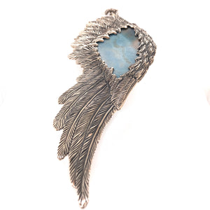 Mariella Pilato Jasper Angel Wing Necklace