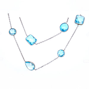 "36"" Blue Topaz Necklace"