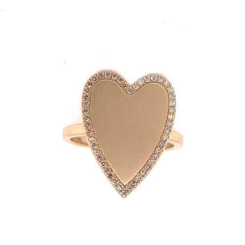 Jumbo Yellow Gold Heart Ring