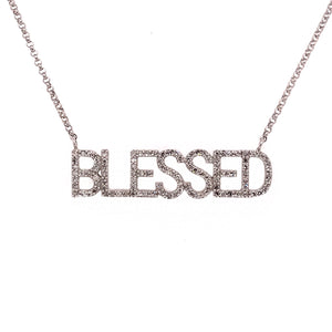"Diamond ""Blessed"" Necklace"