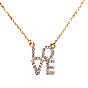"Two-Tone Stacked ""LOVE"" Necklace"