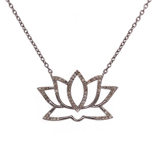 Lotus Necklace with Diamonds 14-18""