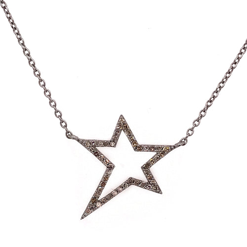 Open Diamond Star Necklace