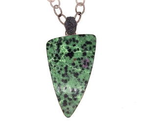Mariella Pilato Ruby Zoisite Pendant with Textured Bail