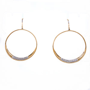 Diamond Circle Dangle Earrings