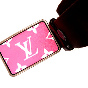 Pink Upcycled Belt Buckle