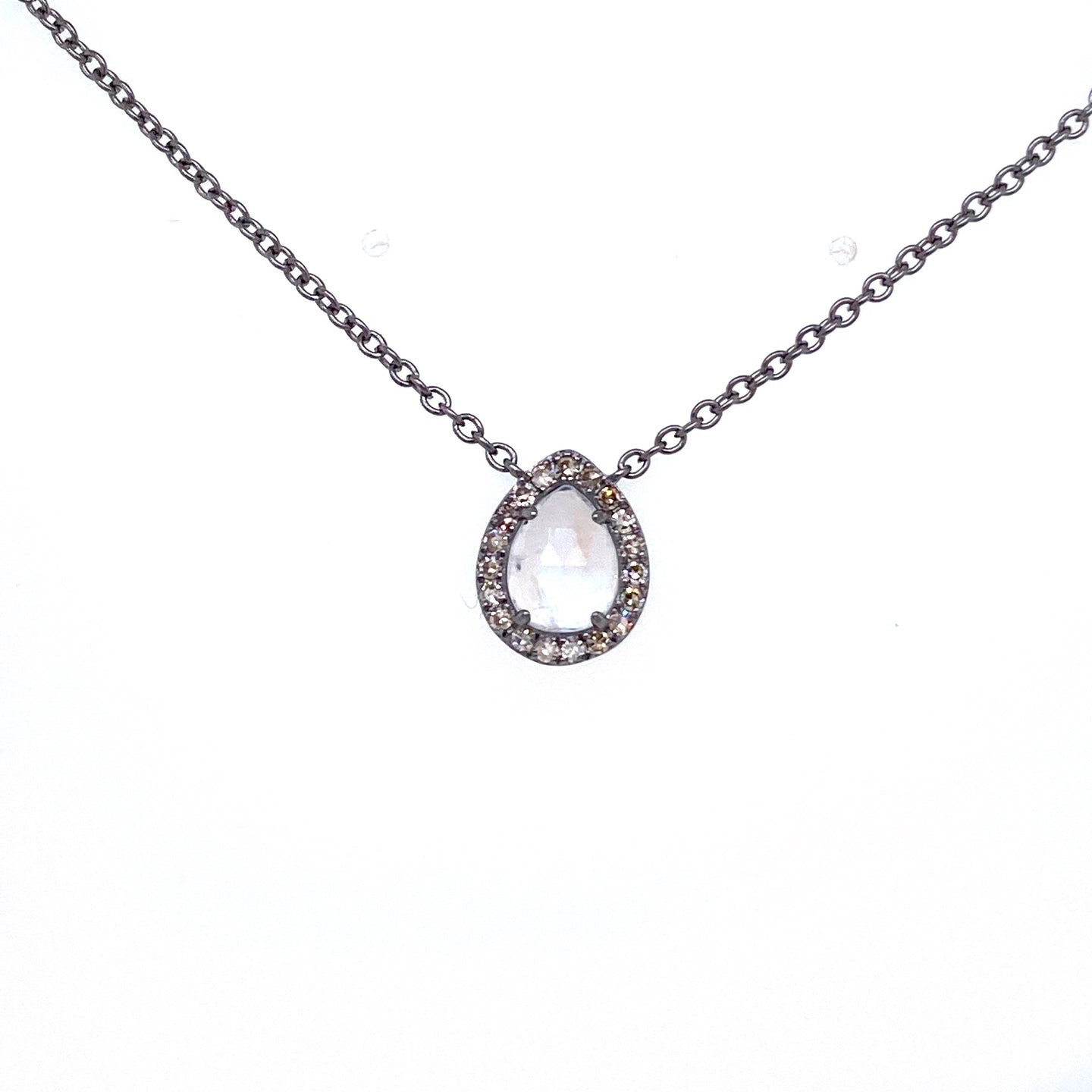 Pear-Shape Moonstone Necklace