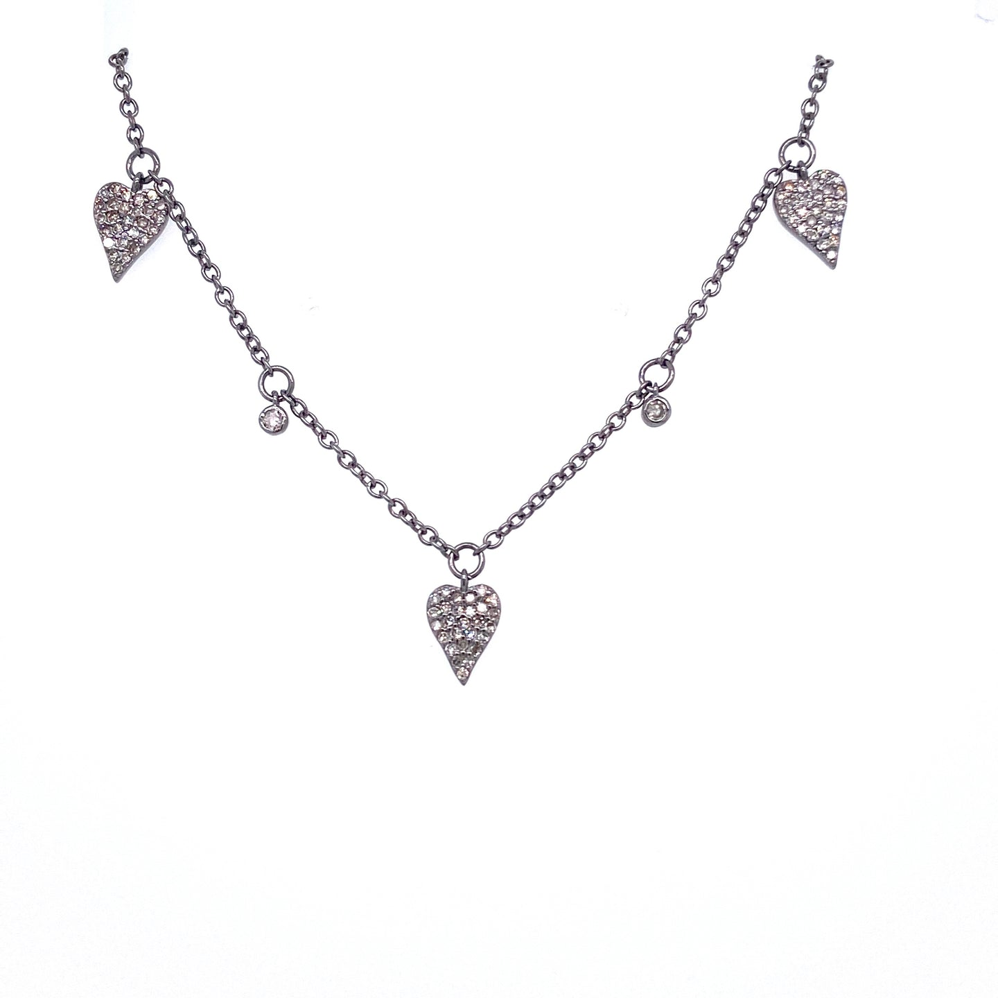 Diamond Heart Dangle Necklace