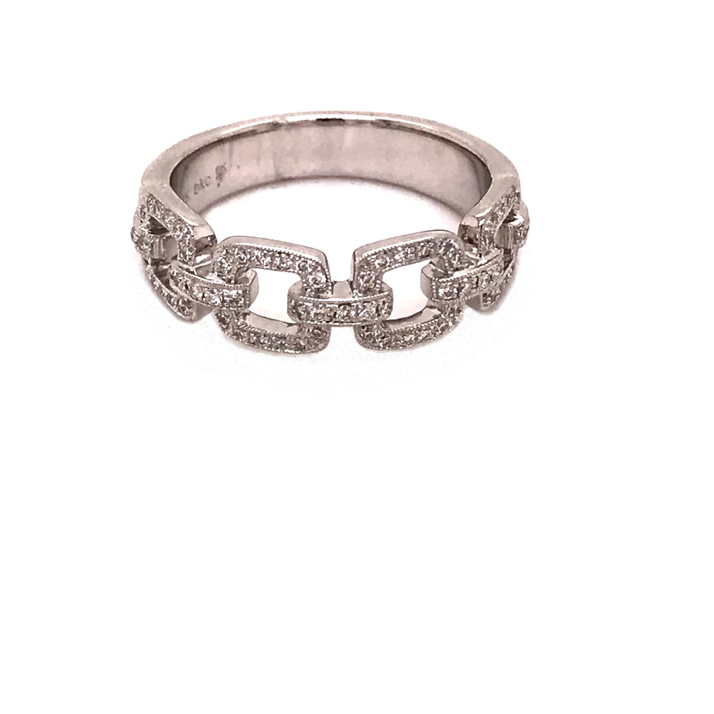 Square Link Diamond Ring