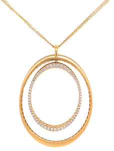 Double Oval Diamond Necklace