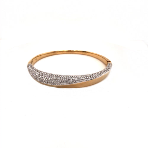 Two-Tone Diamond Wave Bangle