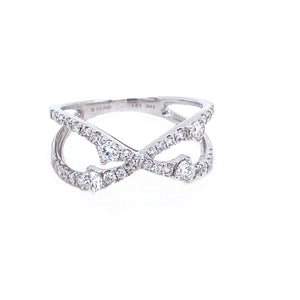 "Diamond ""X"" Ring"