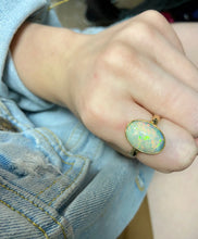 Bezel Set Opal Ring
