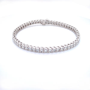 White Gold 1/2 Bezel Set Diamond Bracelet
