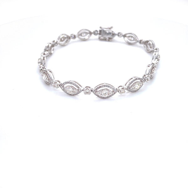 White Gold Marquis Diamond Bracelet