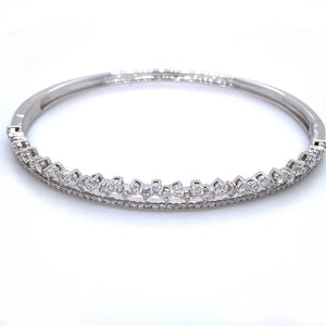 Two Row Diamond Bangle