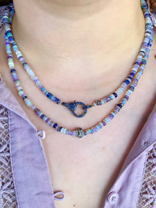 Australian Opal Strand with Sapphire & Diamond Rondelle