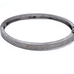 All Around Flush Set Diamond Bangle