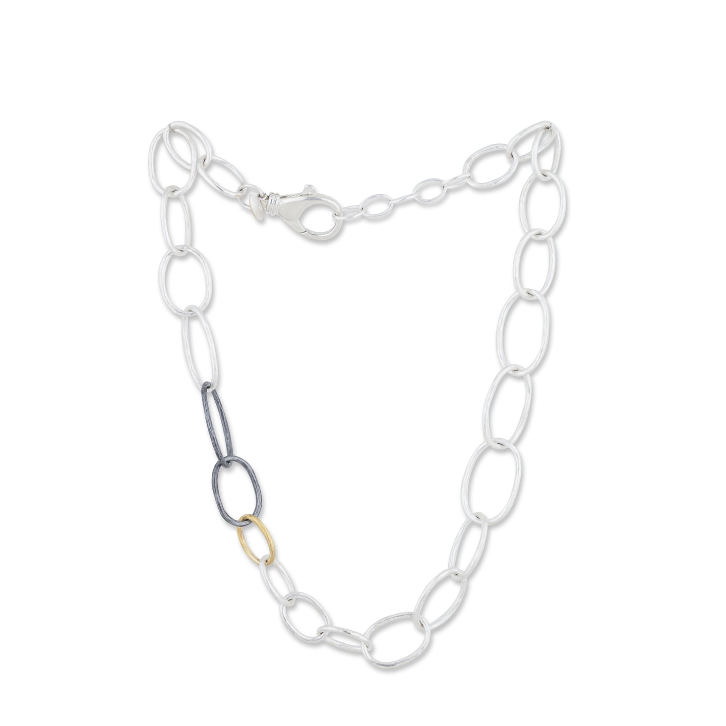 Lika Behar Tri-Tone Organic Link Necklace