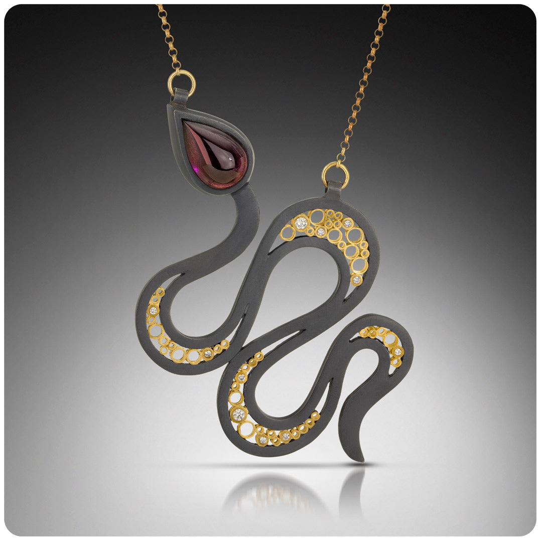 Belle Brooke Cielo Collection Snake Necklace
