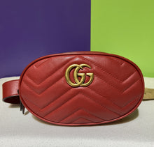 Gucci Red Marmont Quilted Belt Bag