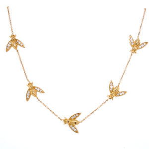 5 Diamond Bee Necklace