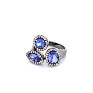 Multi-Shape Tanzanite Ring