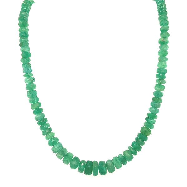 Tapered Emerald Strand Necklace