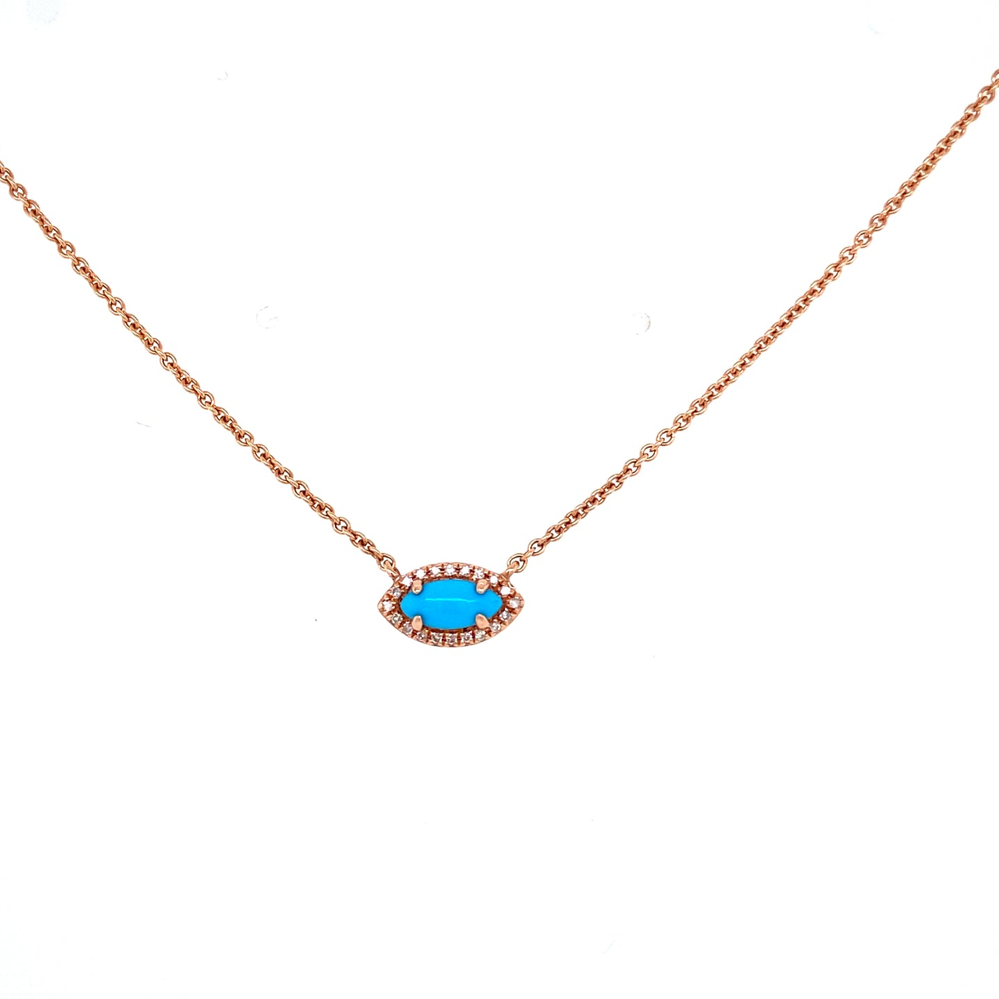 Marquis Shaped Turquoise Necklace