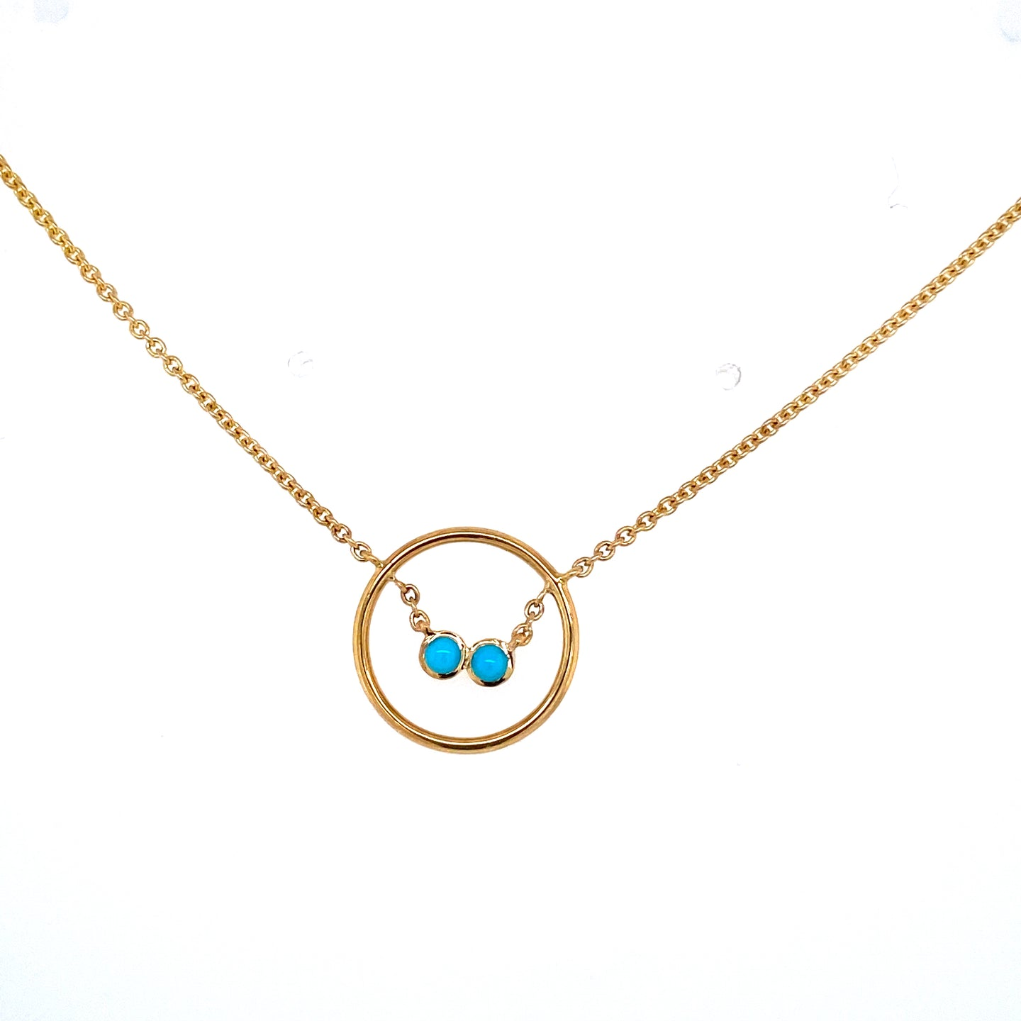 Turquoise Accented Circle Necklace