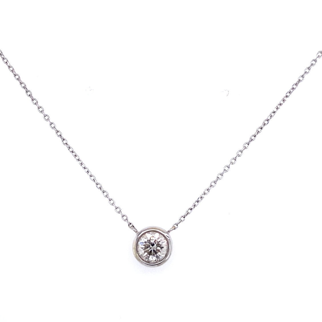 0.66ct Bezel Set Diamond Necklace