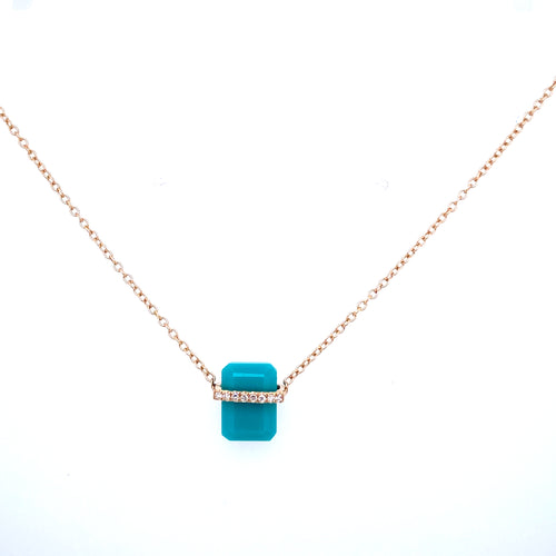 Turquoise Tablet Necklace