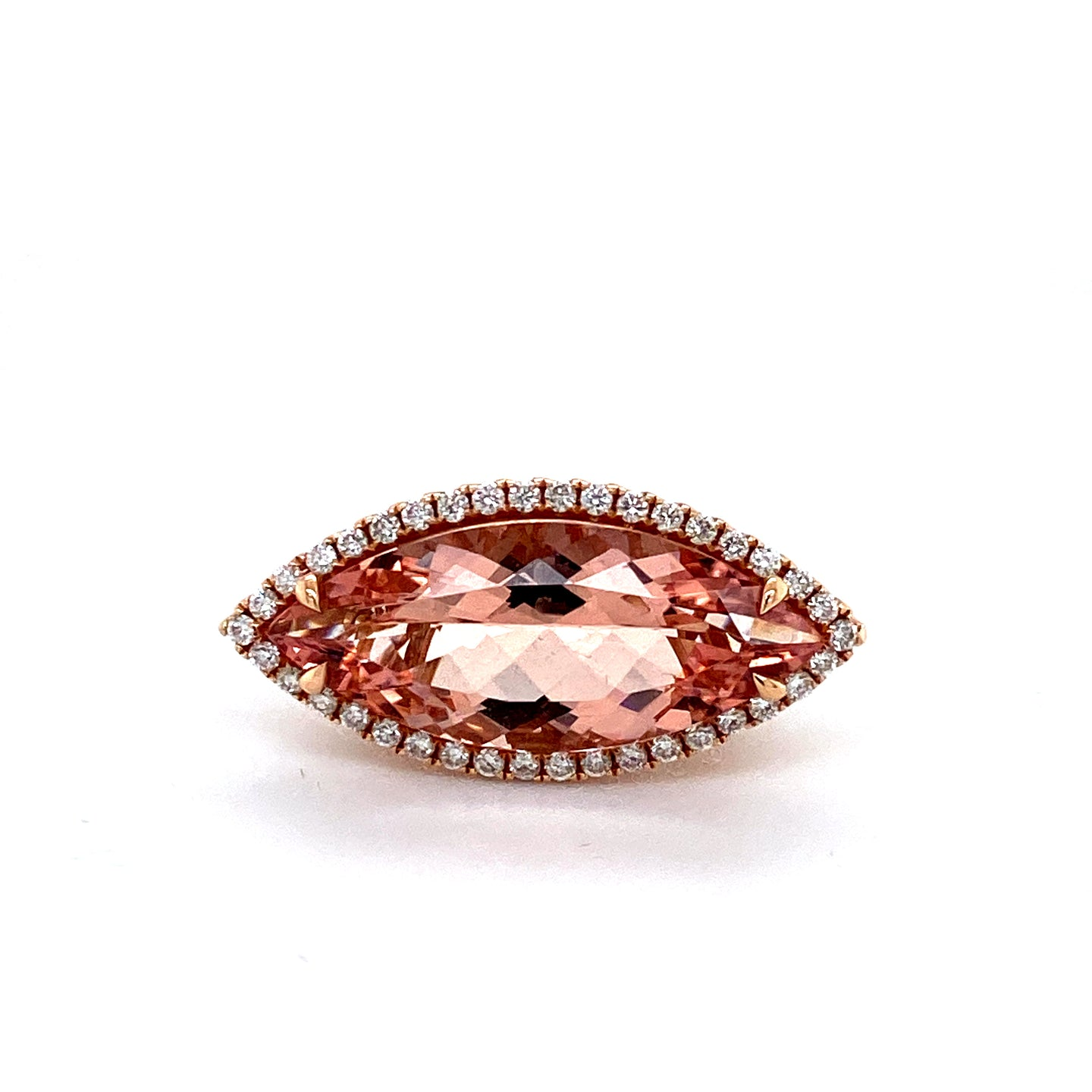 Rose Gold Marquis Morganite Ring