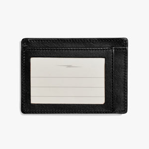Shinola Black Leather Wallet with ID Holder