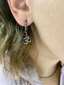 "Diamond ""OM"" Dangle Earrings"