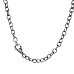 Matte Link Chain with Diamond Clasp