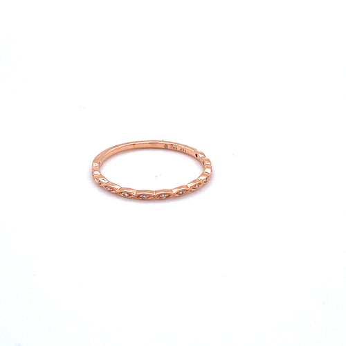 Marquise Shaped Band with Diamonds