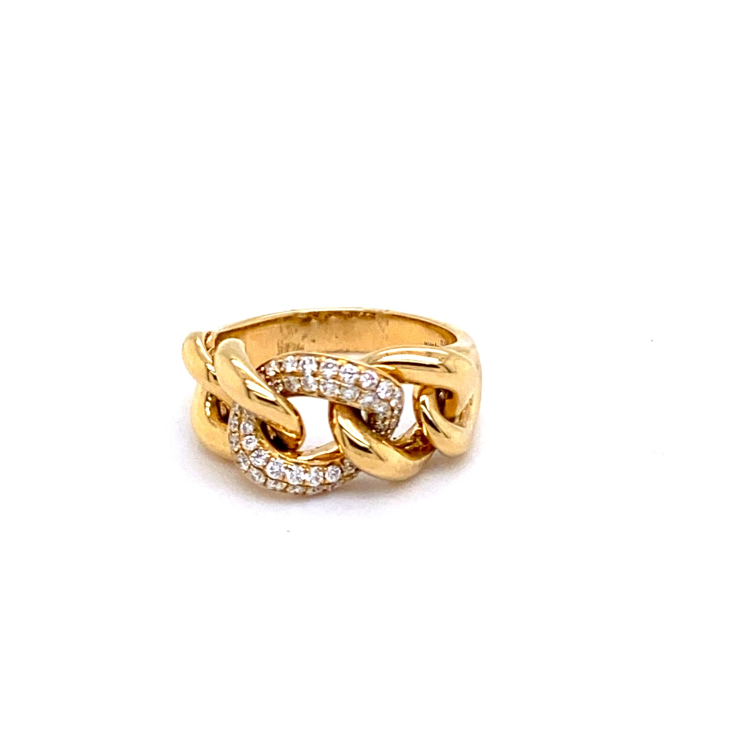 Diamond Pave Link Ring