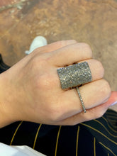 Diamond Pave Rectangle Ring
