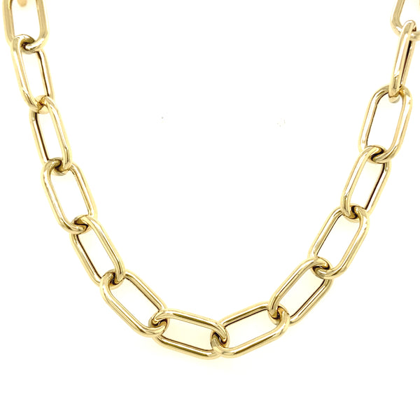 Open Oval Chain Link Necklace