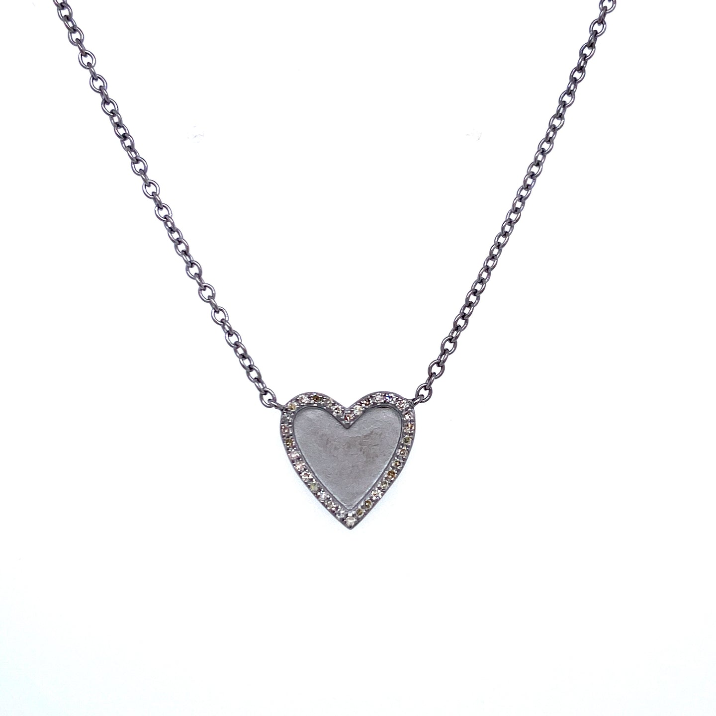Matte Finish Heart Necklace