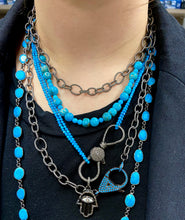 "36"" Chain with Turquoise Clasp"