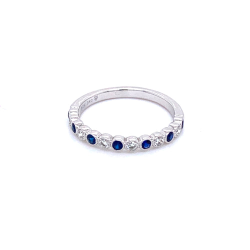 Alternating Diamond & Sapphire Band