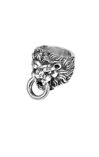 King Baby Lion's Head Ring