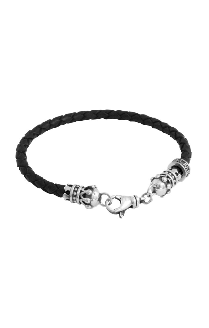 King Baby Small Braided Leather Bracelet