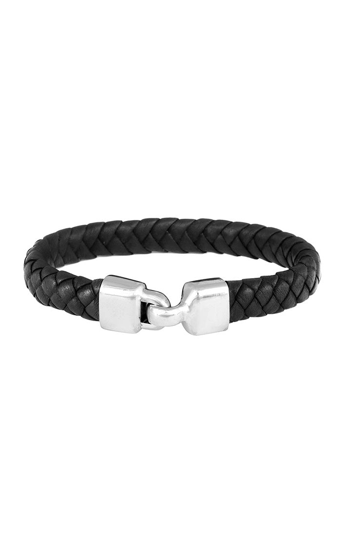 King Baby Braided Leather Bracelet
