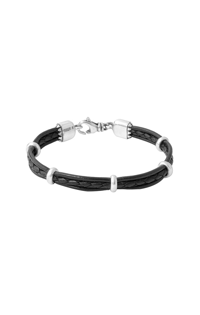King Baby 3 Row Leather Bracelet